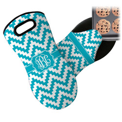 Pixelated Chevron Neoprene Oven Mitt (Personalized)
