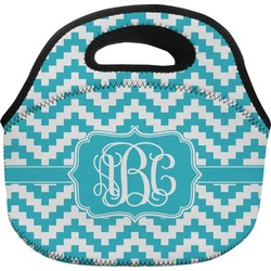 Pixelated Chevron Lunch Bag (Personalized)
