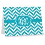 Pixelated Chevron Note cards (Personalized)