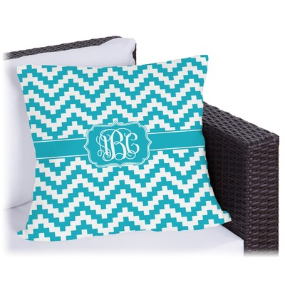 Pixelated Chevron Outdoor Pillow (Personalized)
