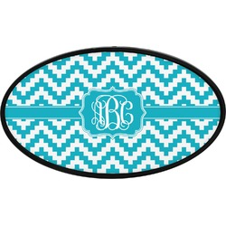 Pixelated Chevron Oval Trailer Hitch Cover (Personalized)