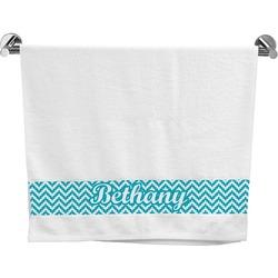 Pixelated Chevron Bath Towel (Personalized)
