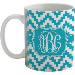 Pixelated Chevron Coffee Mug (Personalized)