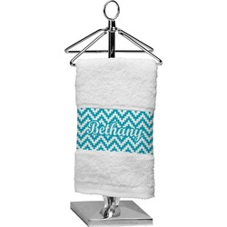 Pixelated Chevron Finger Tip Towel (Personalized)