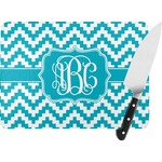 Pixelated Chevron Rectangular Glass Cutting Board (Personalized)