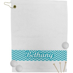 Pixelated Chevron Golf Towel (Personalized)