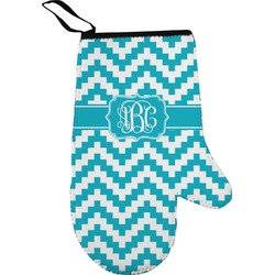 Pixelated Chevron Oven Mitt (Personalized)