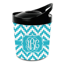 Pixelated Chevron Plastic Ice Bucket (Personalized)