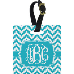 Pixelated Chevron Luggage Tags (Personalized)