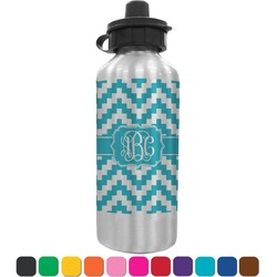 Pixelated Chevron Water Bottle (Personalized)