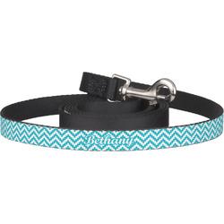 Pixelated Chevron Pet / Dog Leash (Personalized)