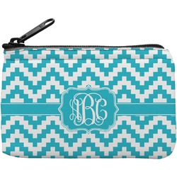 Pixelated Chevron Rectangular Coin Purse (Personalized)