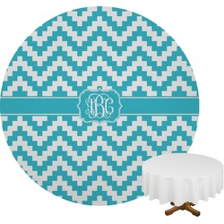 Pixelated Chevron Round Tablecloth (Personalized)
