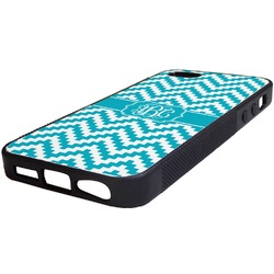 Pixelated Chevron Rubber iPhone 5/5S Phone Case (Personalized)
