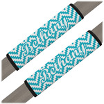 Pixelated Chevron Seat Belt Covers (Set of 2) (Personalized)