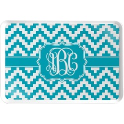 Pixelated Chevron Serving Tray (Personalized)