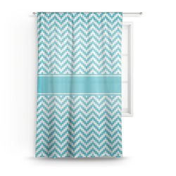 "Pixelated Chevron Sheer Curtain - 50""x84"" (Personalized)"