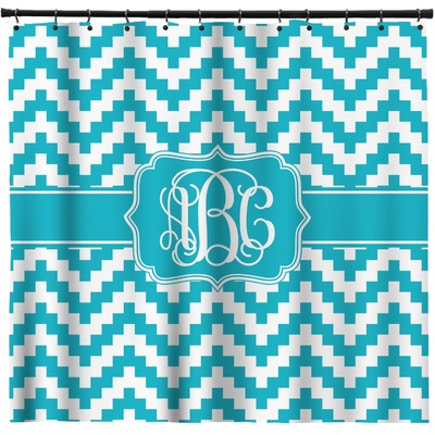 Pixelated Chevron Shower Curtain (Personalized)