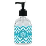 Pixelated Chevron Soap/Lotion Dispenser (Glass) (Personalized)