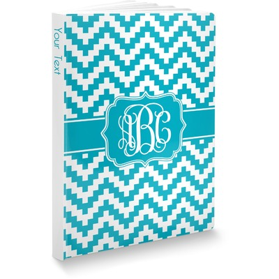 Pixelated Chevron Softbound Notebook (Personalized)