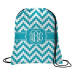 Pixelated Chevron Drawstring Backpack (Personalized)