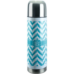 Pixelated Chevron Stainless Steel Thermos (Personalized)