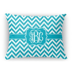 Pixelated Chevron Rectangular Throw Pillow Case (Personalized)
