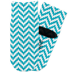 Pixelated Chevron Toddler Ankle Socks (Personalized)