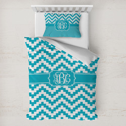 Pixelated Chevron Toddler Bedding w/ Monogram