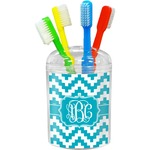 Pixelated Chevron Toothbrush Holder (Personalized)