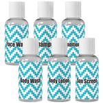 Pixelated Chevron Travel Bottles (Personalized)
