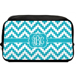 Pixelated Chevron Toiletry Bag / Dopp Kit (Personalized)