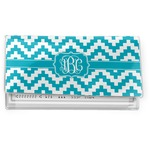 Pixelated Chevron Vinyl Checkbook Cover (Personalized)