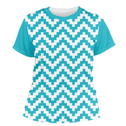 Pixelated Chevron Women's Crew T-Shirt (Personalized)