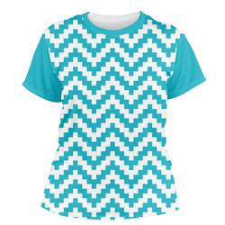 Pixelated Chevron Women's Crew T-Shirt (Personalized)