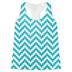 Pixelated Chevron Womens Racerback Tank Top (Personalized)