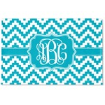 Pixelated Chevron Woven Mat (Personalized)