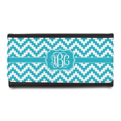 Pixelated Chevron Leatherette Ladies Wallet (Personalized)