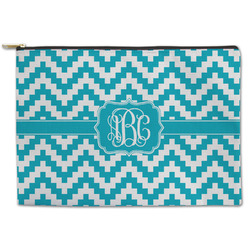 Pixelated Chevron Zipper Pouch (Personalized)