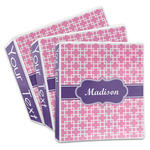 Linked Squares 3-Ring Binder (Personalized)