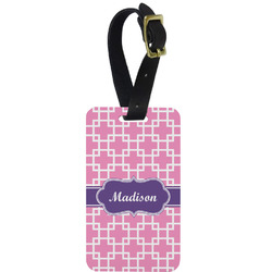 Linked Squares Aluminum Luggage Tag (Personalized)