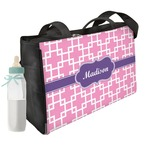 Linked Squares Diaper Bag w/ Name or Text