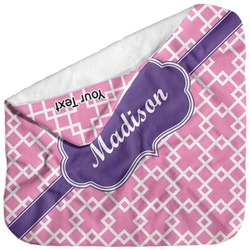 Linked Squares Baby Hooded Towel (Personalized)