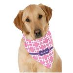 Linked Squares Dog Bandana Scarf w/ Name or Text
