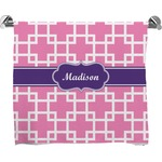 Linked Squares Full Print Bath Towel (Personalized)