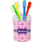 Linked Squares Toothbrush Holder (Personalized)