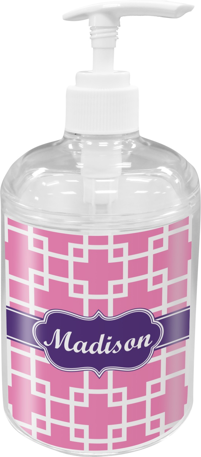 Linked Squares Soap Lotion Dispenser Personalized Youcustomizeit