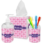 Linked Squares Bathroom Accessories Set (Personalized)