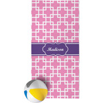 Linked Squares Beach Towel (Personalized)