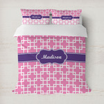 Linked Squares Duvet Covers (Personalized)